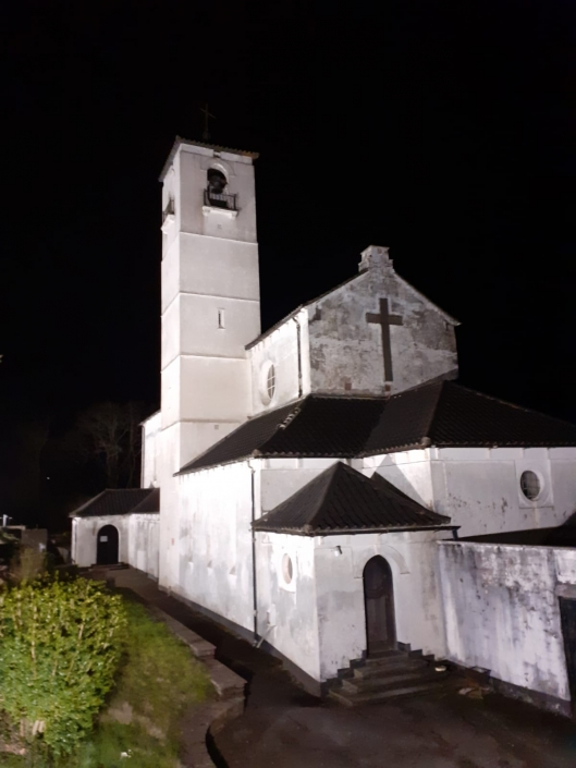 Our Lady of Peace, Newbridge as lit at night